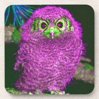 Cute Pink Owl Multi Products Selected Drink Coasters