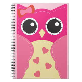 Cute Pink Owl Notebook