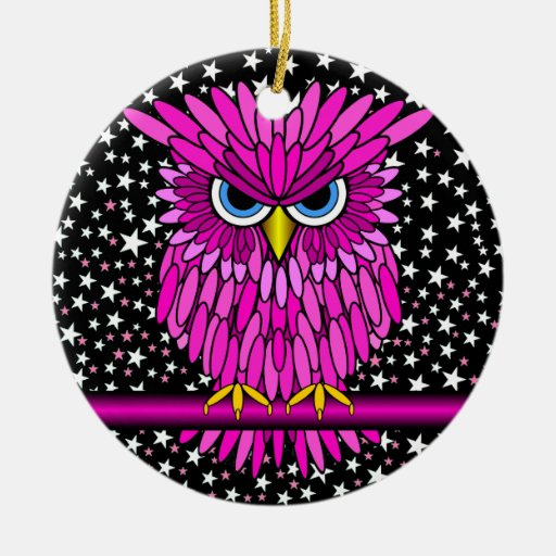 cute pink owl ornament