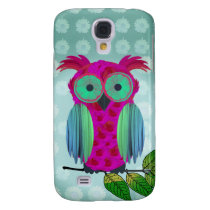 Cute Pink Owl Samsung Galaxy S4 Case