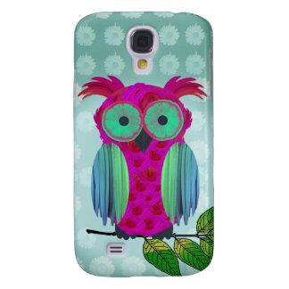 Cute Pink Owl Samsung Galaxy S4 Case