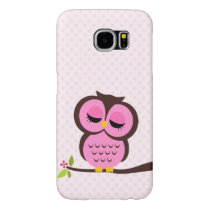 Cute Pink Owl Samsung Galaxy S6 Case