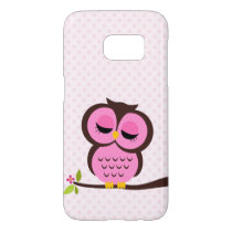 Cute Pink Owl Samsung Galaxy S7 Case