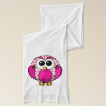 Cute Pink Owl Scarf