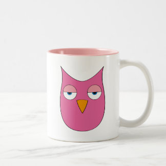 Cute pink Owl - So what? Coffee Mug