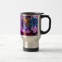 Cute Pink Owl Travel Mug