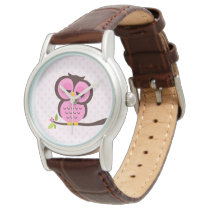 Cute Pink Owl Watch