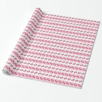 Cute Pink Owl Woodland Wrapping Paper