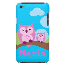 Cute pink Owls iTouch Case
