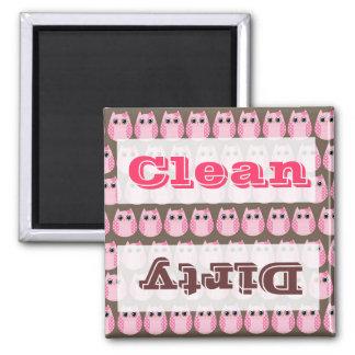 Cute Pink Owls Kitchen Decor Accessories Magnet