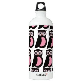 Cute Pink Owls Kitchen Decor Accessories Water Bottle