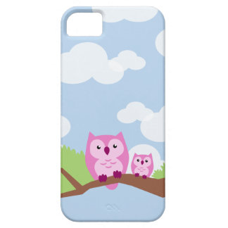 Cute Pink Owls - Mom and Baby daytime iPhone SE/5/5s Case