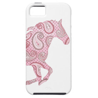 Cute Pink Paisley Horse iPhone 5 Cases