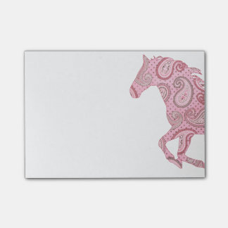 Cute Pink Paisley Horse Post-it® Notes