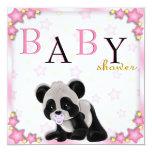 Cute Pink Panda Bear Baby Shower Invite