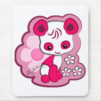 Cute Pink Panda Bear Mouse Pad