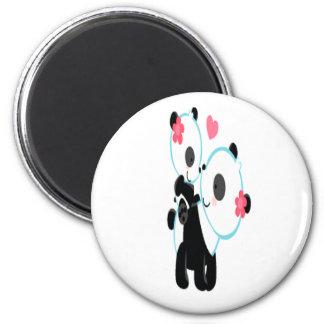 Cute Pink Panda Love Magnet