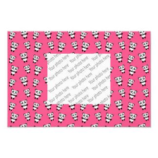 Cute pink panda pattern art photo