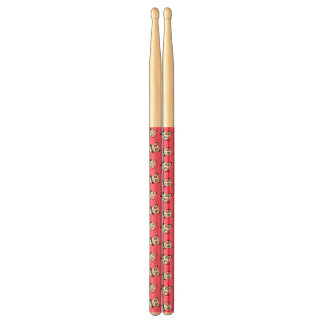 Cute pink panda pattern drumsticks