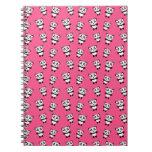 Cute pink panda pattern spiral note book