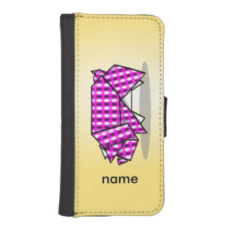 Cute Pink Patterned Paper Pig iPhone SE/5/5s Wallet
