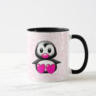 Cute Pink Penguin Mug