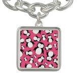 Cute pink penguin pattern bracelets