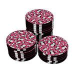Cute pink penguin pattern poker chips set
