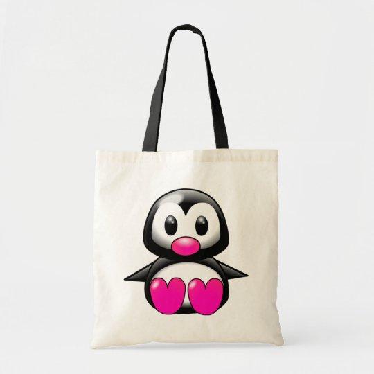 Cute Pink Penguin Tote Bag