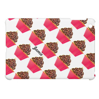 Cute Pink Personalized Cupcake Sprinkles iPad Mini Covers
