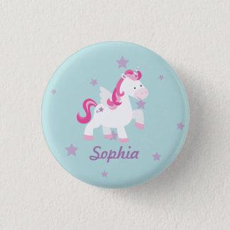 Cute Pink Personalized Magical Unicorn Button/Pin Button