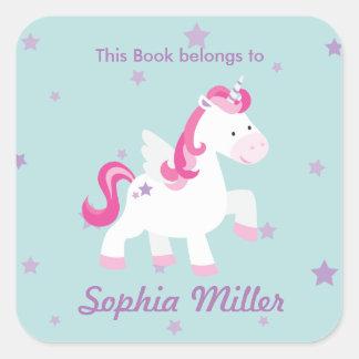 Cute Pink Personalized Magical Unicorn Sticker
