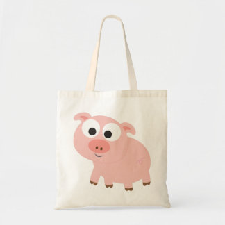 Cute Pink Pig Canvas Bags