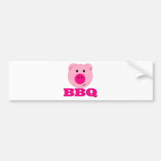 Cute Pink Pig BBQ Bumper Sticker