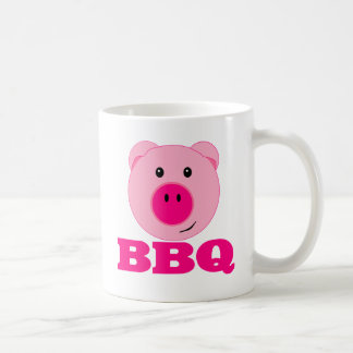 Cute Pink Pig BBQ Coffee Mug