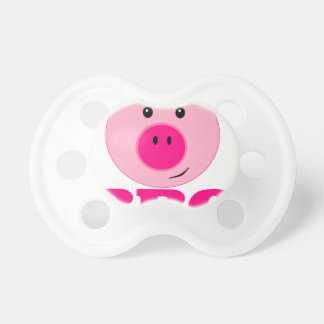 Cute Pink Pig BBQ Baby Pacifiers