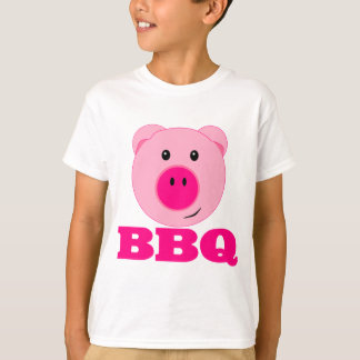 Cute Pink Pig BBQ T-Shirt