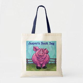 Cute Pink Pig Book Bag