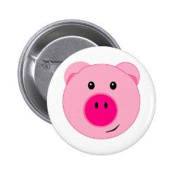 Cute Pink Pig Button