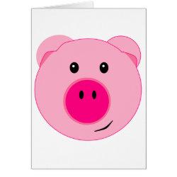 Cute Pink Pig Card
