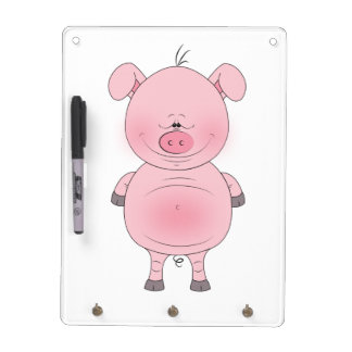 Cute Pink Pig Cartoon Dry Erase Board
