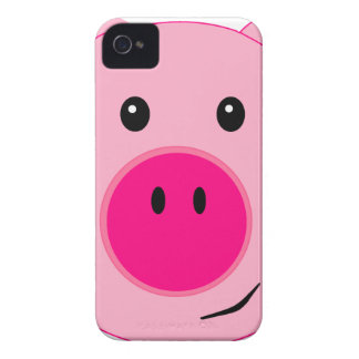 Cute Pink Pig iPhone 4 Case-Mate Cases