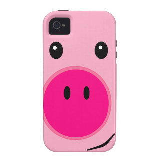 Cute Pink Pig Case-Mate iPhone 4 Cases