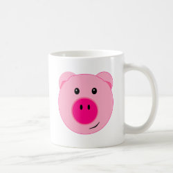 Cute Pink Pig Coffee Coffee Mug