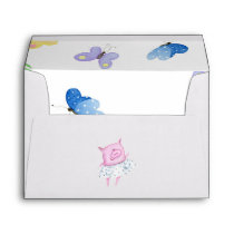 Cute Pink Pig Envelope