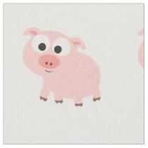 Cute Pink Pig Fabric