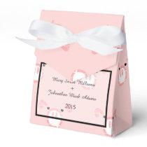 Cute Pink Pig Face Fun Wedding Pattern Favor Box