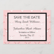Cute Pink Pig Face Fun Wedding Save The Date