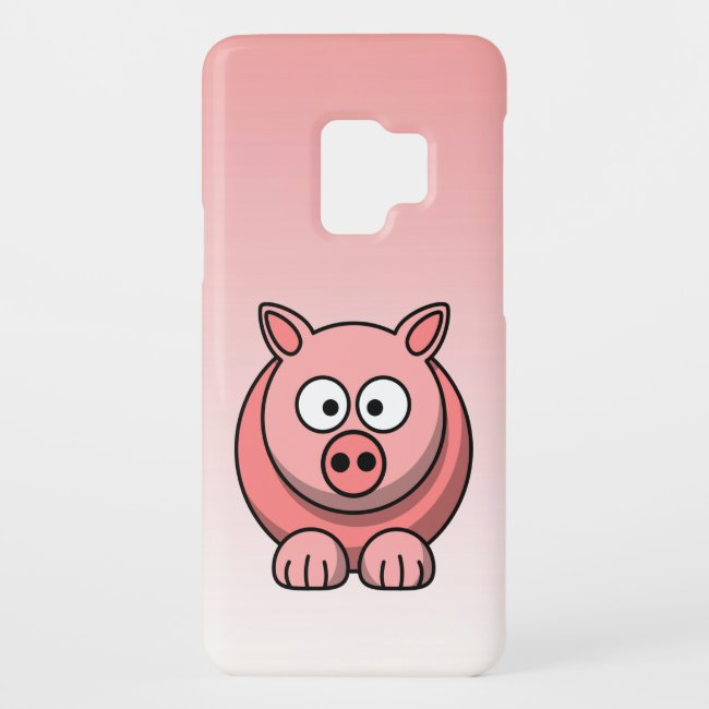 Cute Pink Pig Galaxy S9 Case