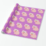 Cute Pink Pig Gift Wrapping Paper